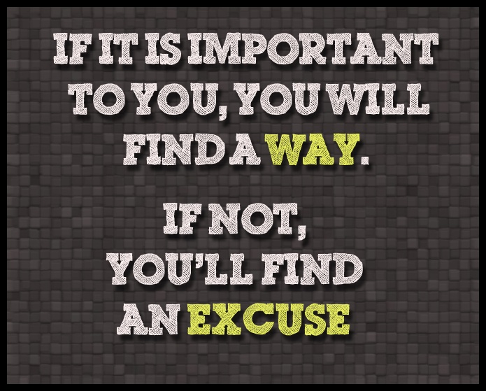 No excuses for not improving your health & wellness