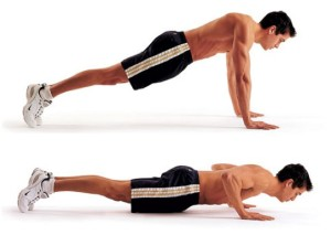 Push-ups accelerate your weight-loss
