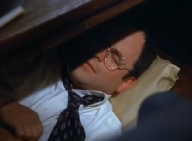 Costanza_napping_under_desk