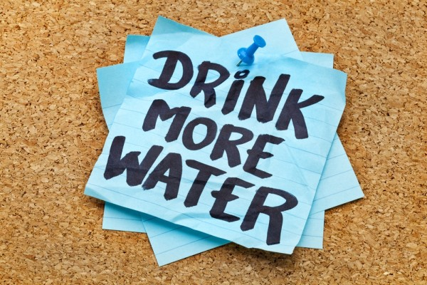 drinking more water for healthy habits